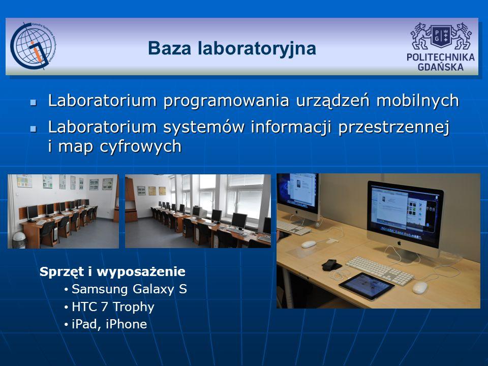 Baza laboratoryjna Laboratorium programowania urządzeń mobilnych
