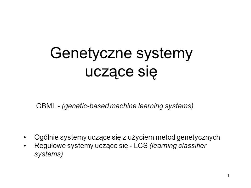 Genetyczne systemy uczące się