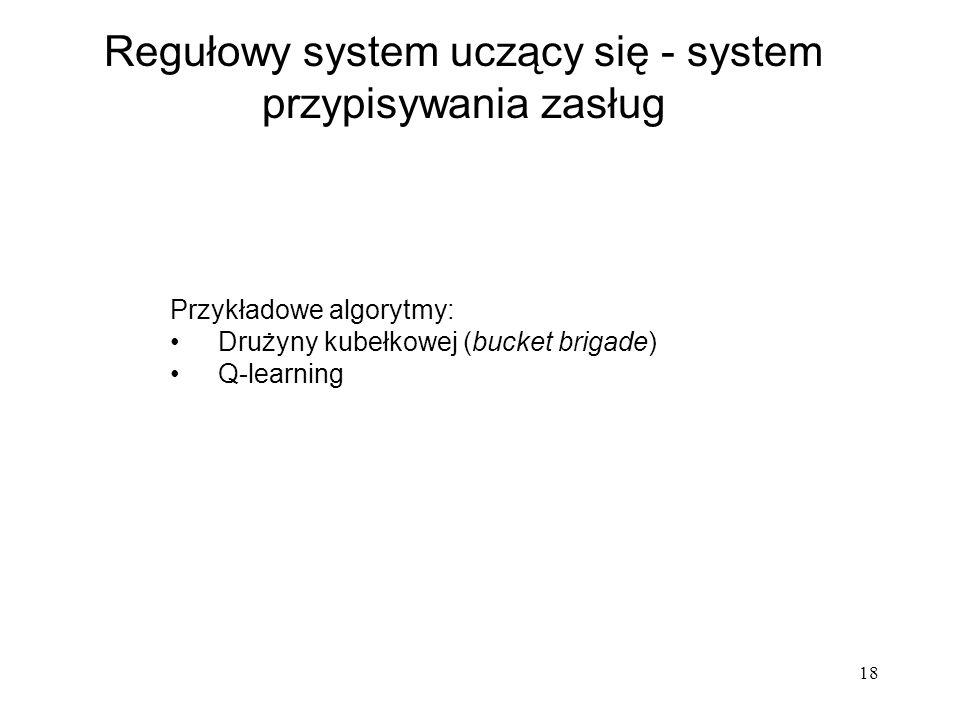 Regułowy system uczący się - system przypisywania zasług