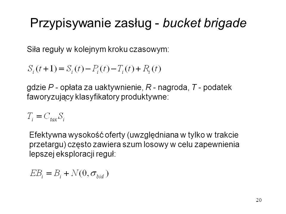 Przypisywanie zasług - bucket brigade