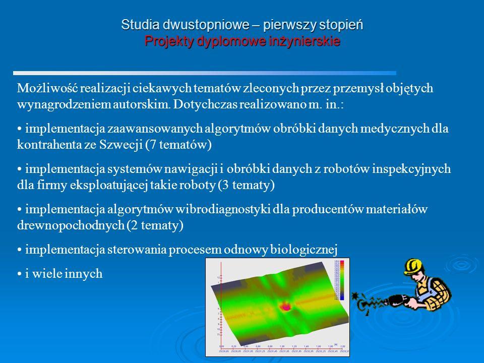 Studia dwustopniowe – pierwszy stopień Projekty dyplomowe inżynierskie
