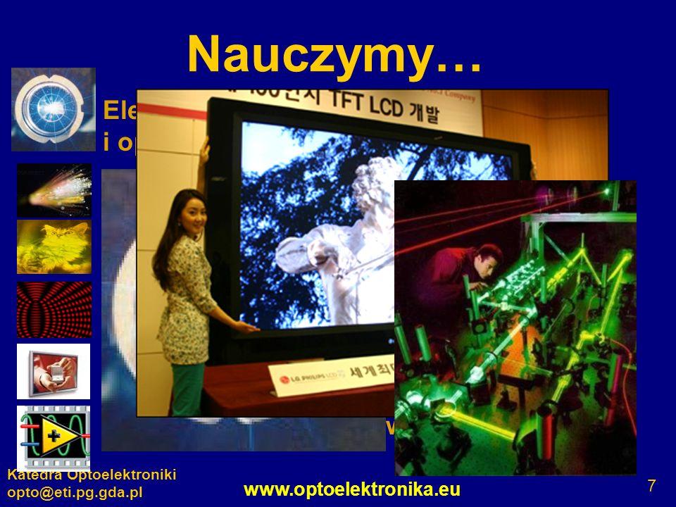Nauczymy… Elementy, układy, systemy elektroniczne i optoelektroniczne