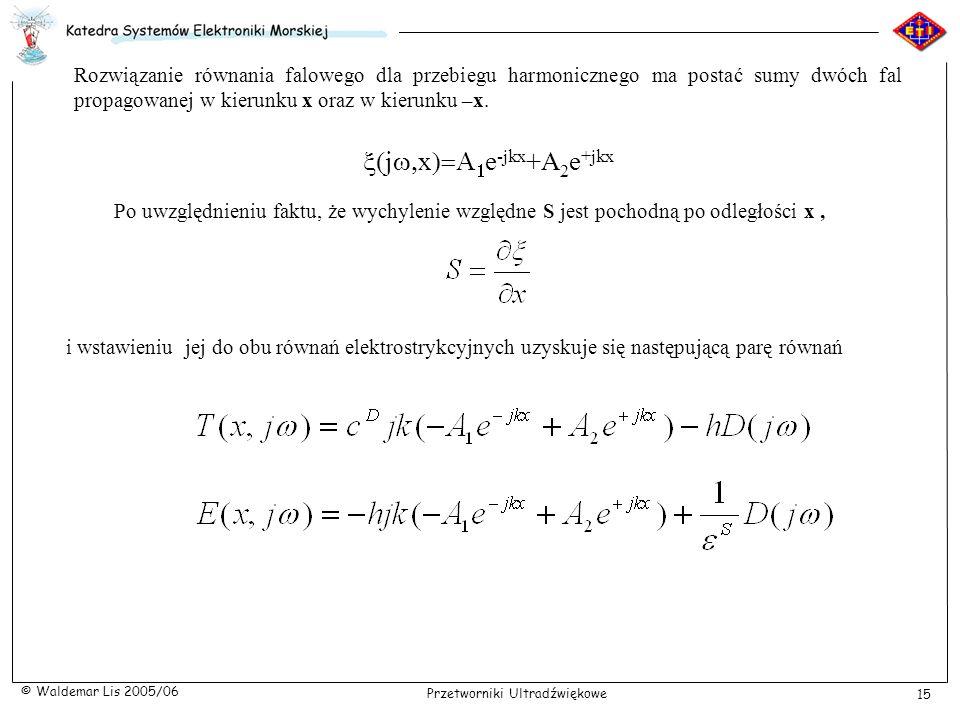 x(jw,x)=A1e-jkx+A2e+jkx