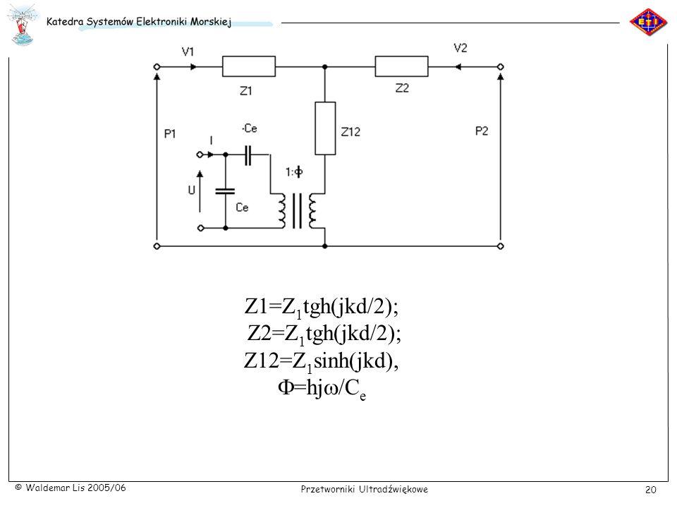Z1=Z1tgh(jkd/2); Z2=Z1tgh(jkd/2); Z12=Z1sinh(jkd), F=hjw/Ce