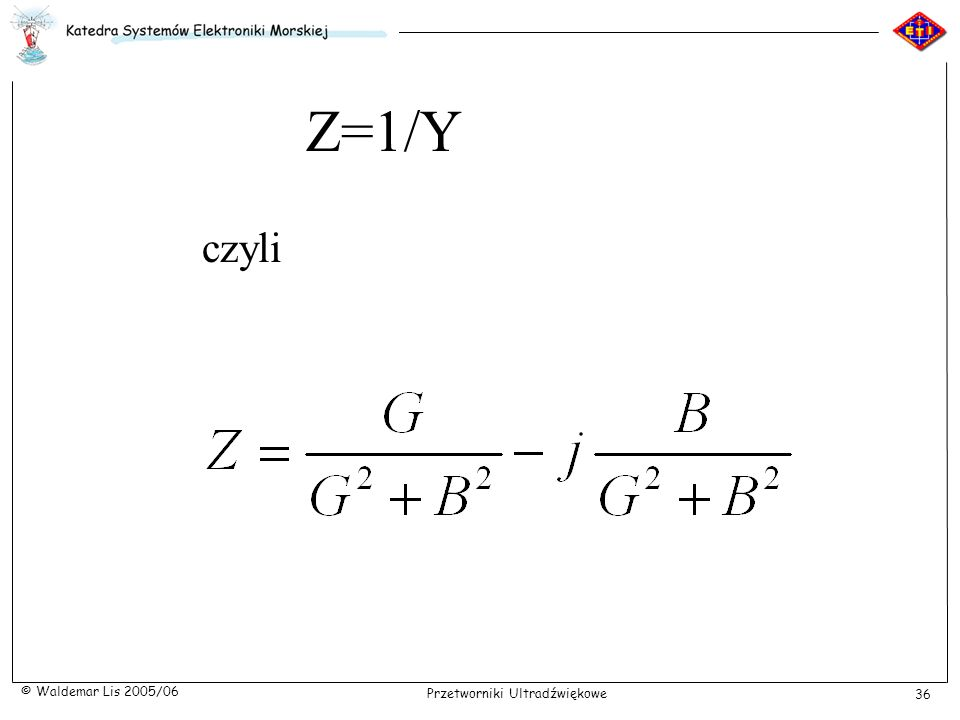 Z=1/Y czyli