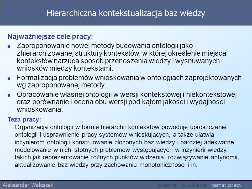 Hierarchiczna kontekstualizacja baz wiedzy