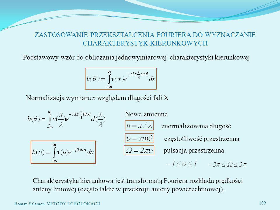 Normalizacja wymiaru x względem długości fali 
