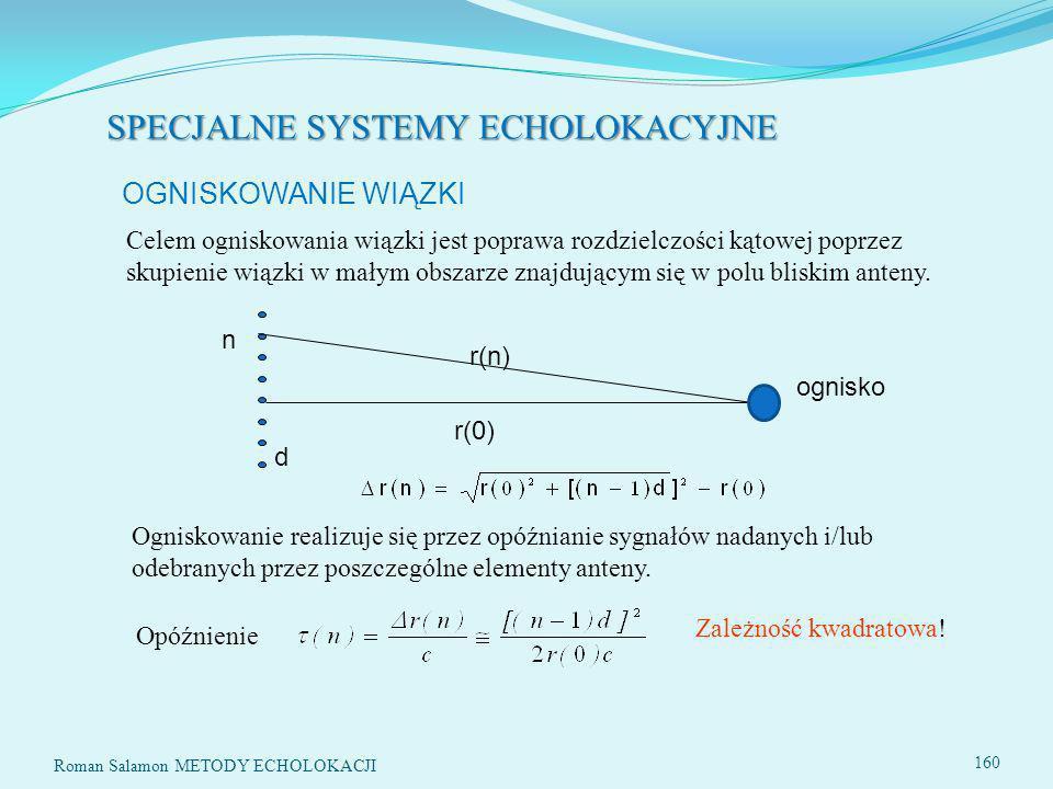 SPECJALNE SYSTEMY ECHOLOKACYJNE