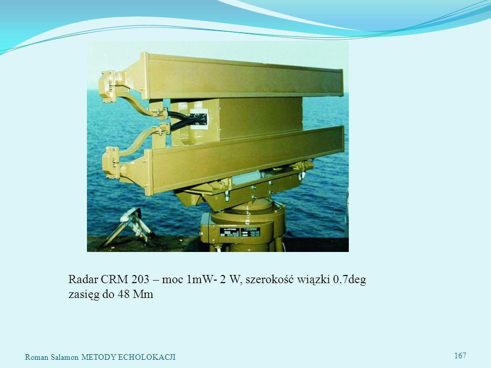 Radar CRM 203 – moc 1mW- 2 W, szerokość wiązki 0.7deg zasięg do 48 Mm