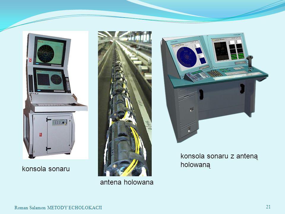 konsola sonaru z anteną holowaną