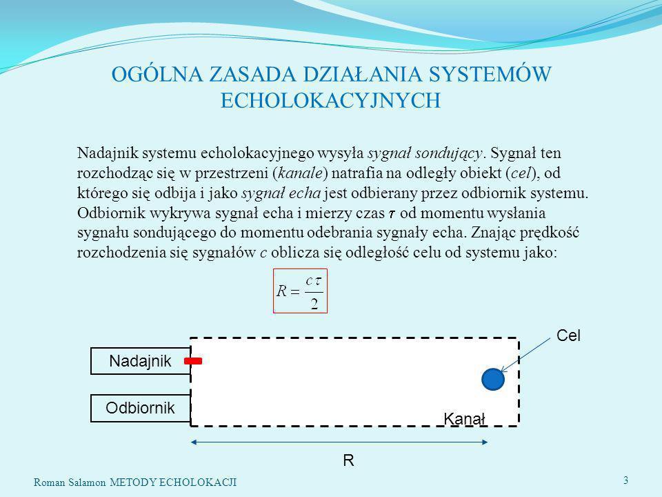 OGÓLNA ZASADA DZIAŁANIA SYSTEMÓW ECHOLOKACYJNYCH