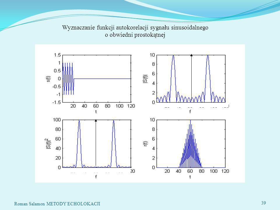Wyznaczanie funkcji autokorelacji sygnału sinusoidalnego o obwiedni prostokątnej