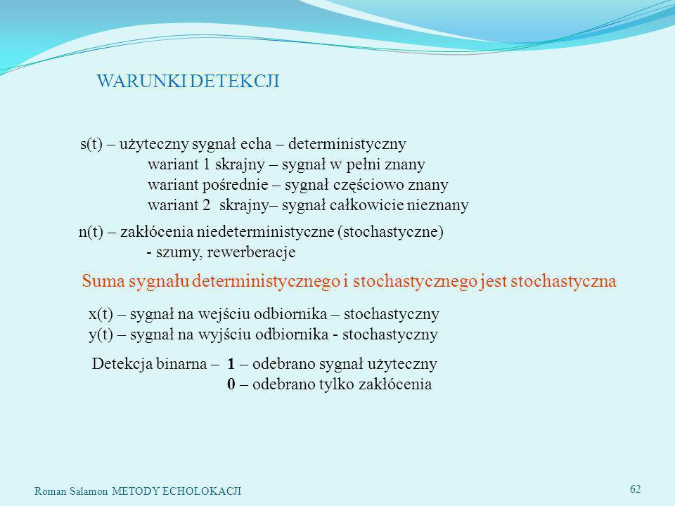 SYSTEMY ECHOLOKACYJNE