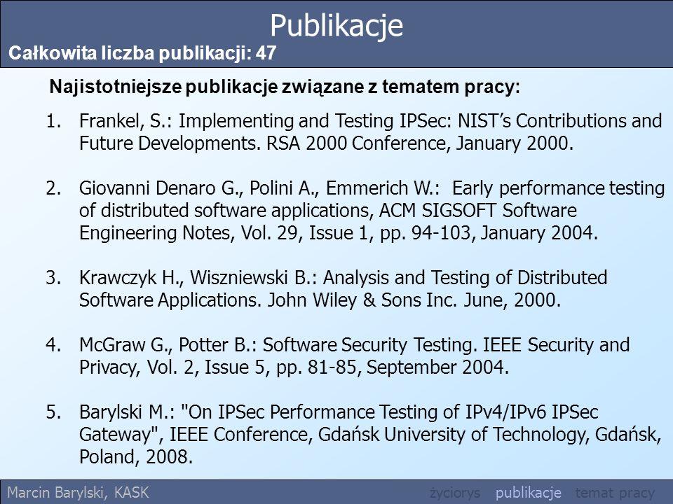 Publikacje Całkowita liczba publikacji: 47