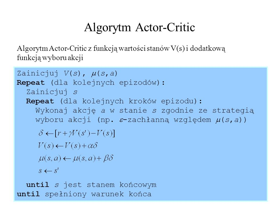 Algorytm Actor-Critic