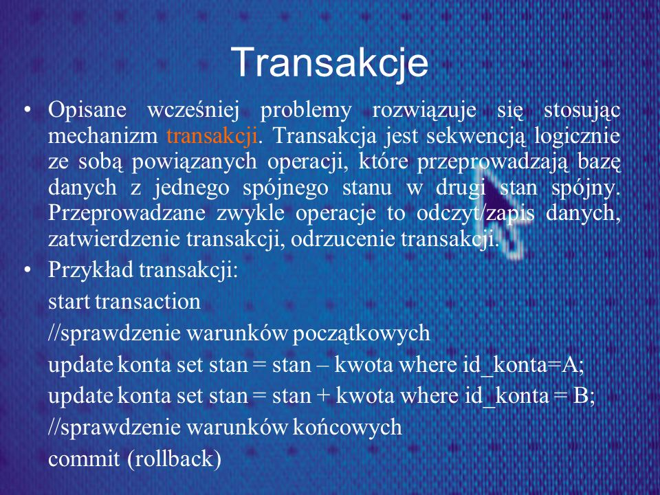 Transakcje