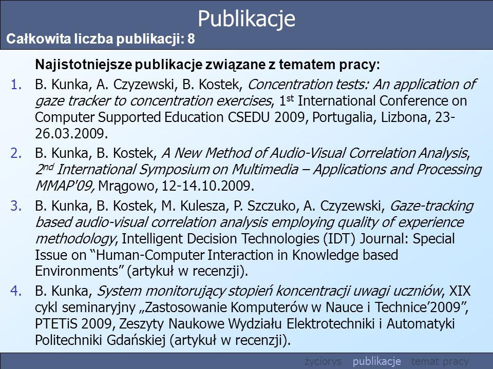 Publikacje Całkowita liczba publikacji: 8
