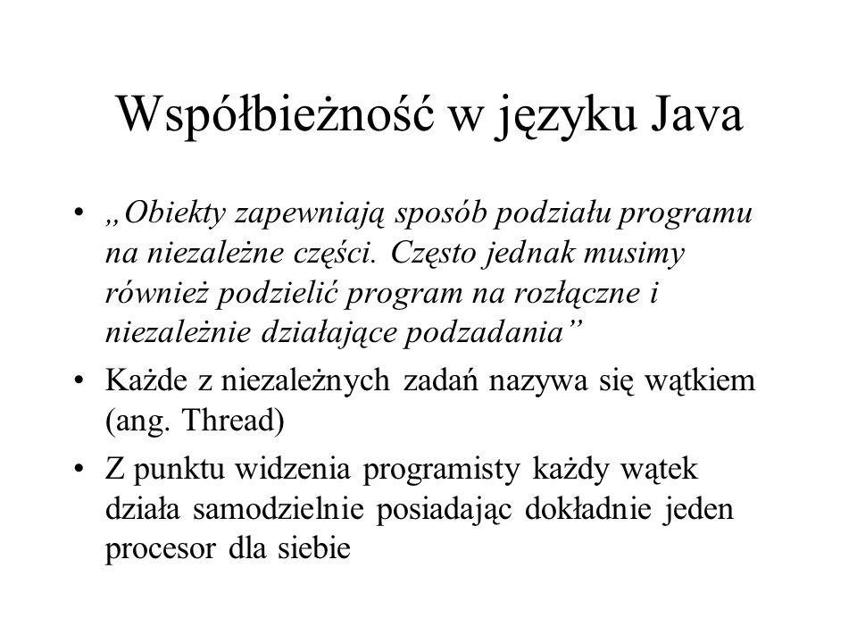 Współbieżność w języku Java