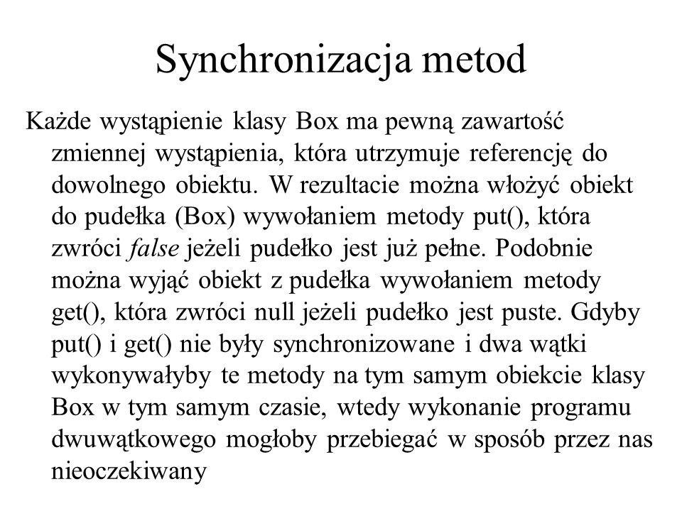 Synchronizacja metod