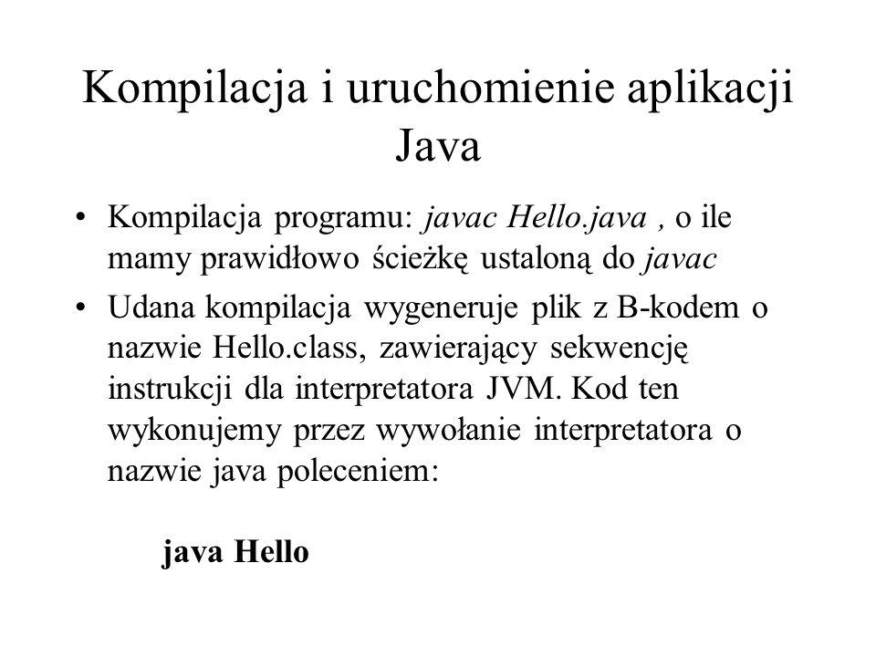 Kompilacja i uruchomienie aplikacji Java