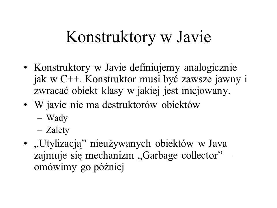 Konstruktory w Javie