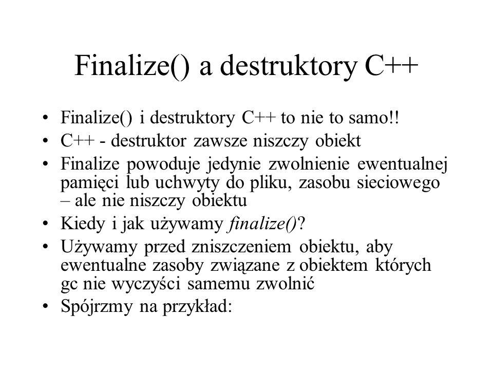 Finalize() a destruktory C++