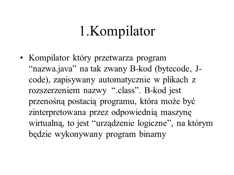 1.Kompilator