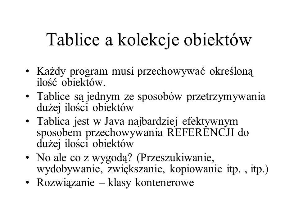 Tablice a kolekcje obiektów