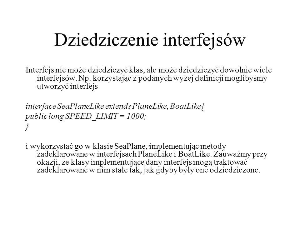 Dziedziczenie interfejsów