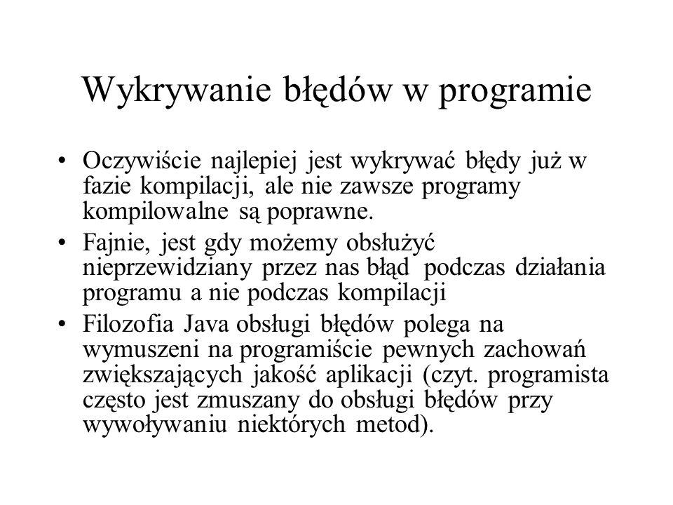Wykrywanie błędów w programie