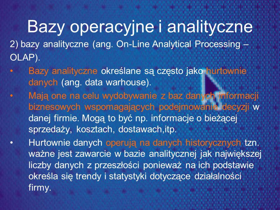 Bazy operacyjne i analityczne