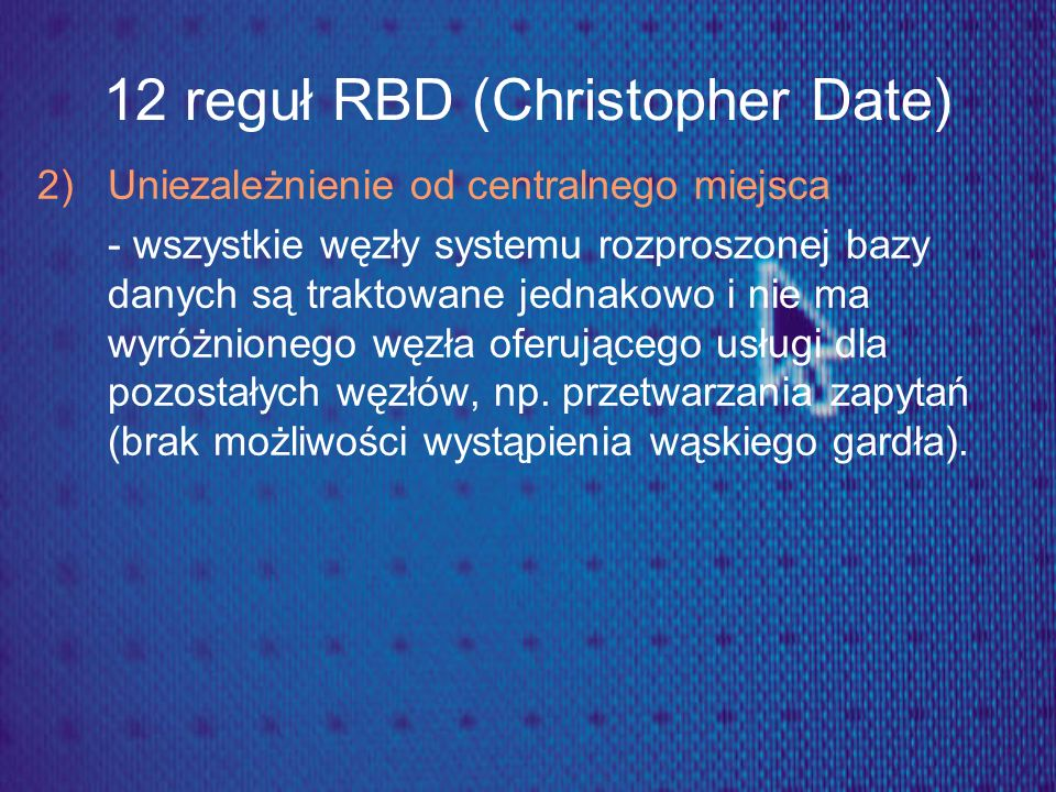 12 reguł RBD (Christopher Date)