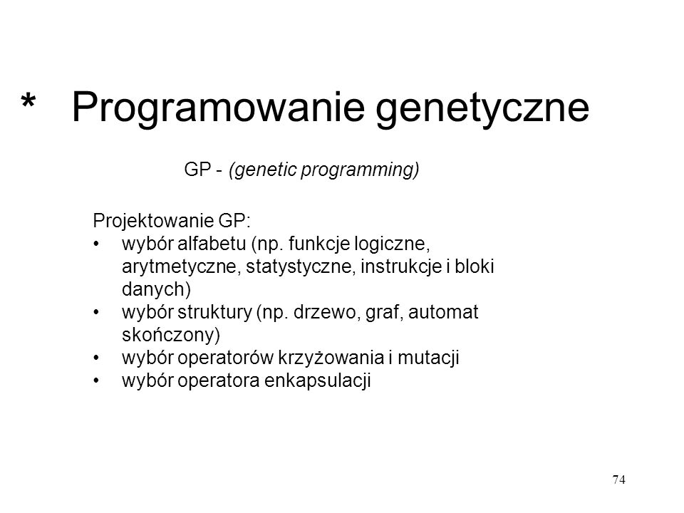 Programowanie genetyczne