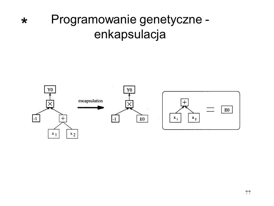 Programowanie genetyczne - enkapsulacja