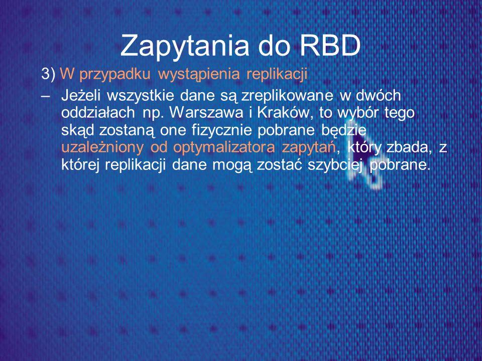 Zapytania do RBD 3) W przypadku wystąpienia replikacji