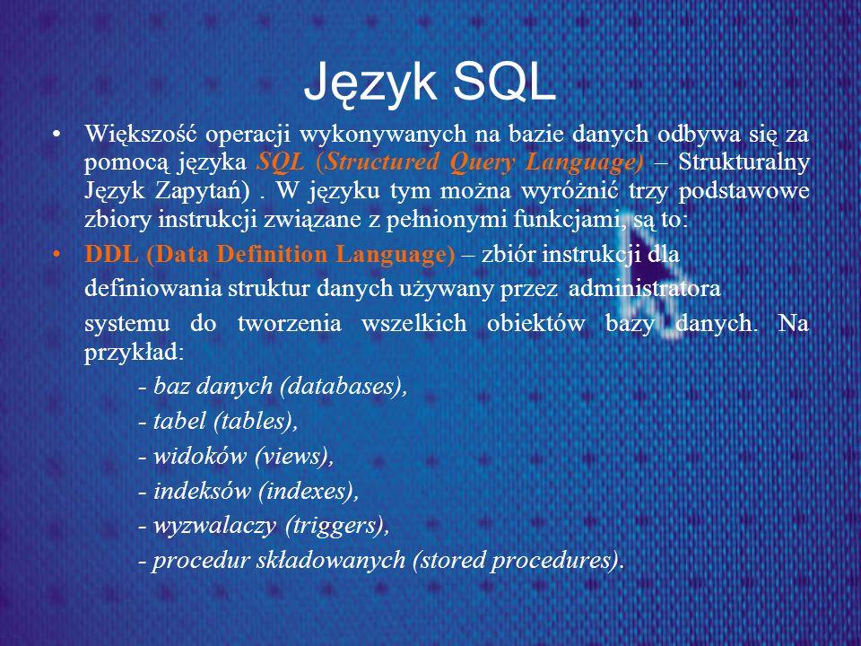 Język SQL