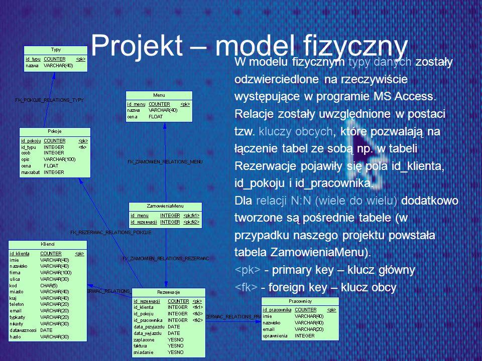 Projekt – model fizyczny