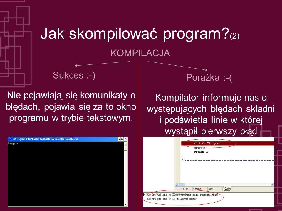 Jak skompilować program (2)