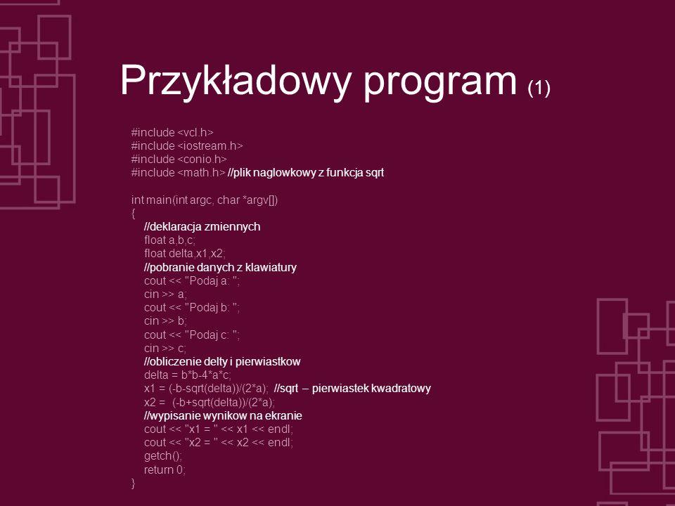 Przykładowy program (1)