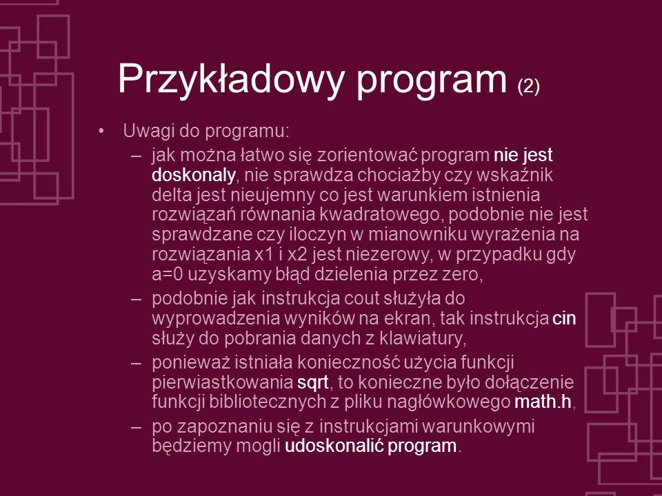 Przykładowy program (2)