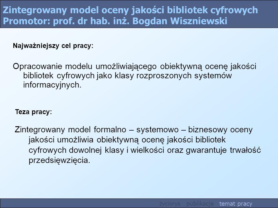 Zintegrowany model oceny jakości bibliotek cyfrowych