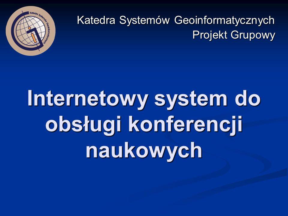 Internetowy system do obsługi konferencji naukowych