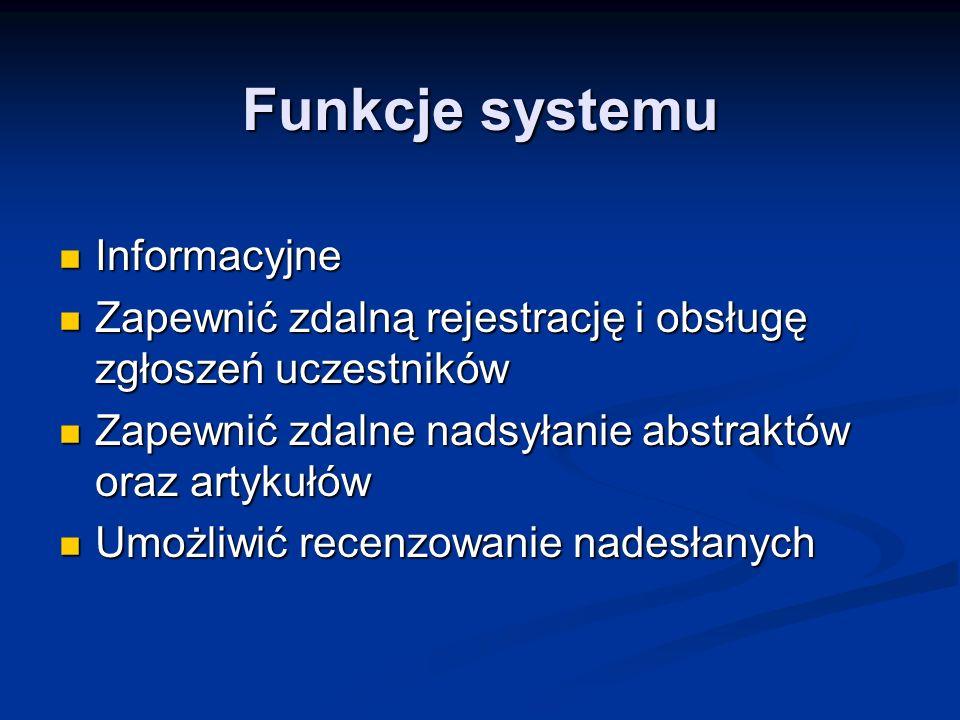 Funkcje systemu Informacyjne