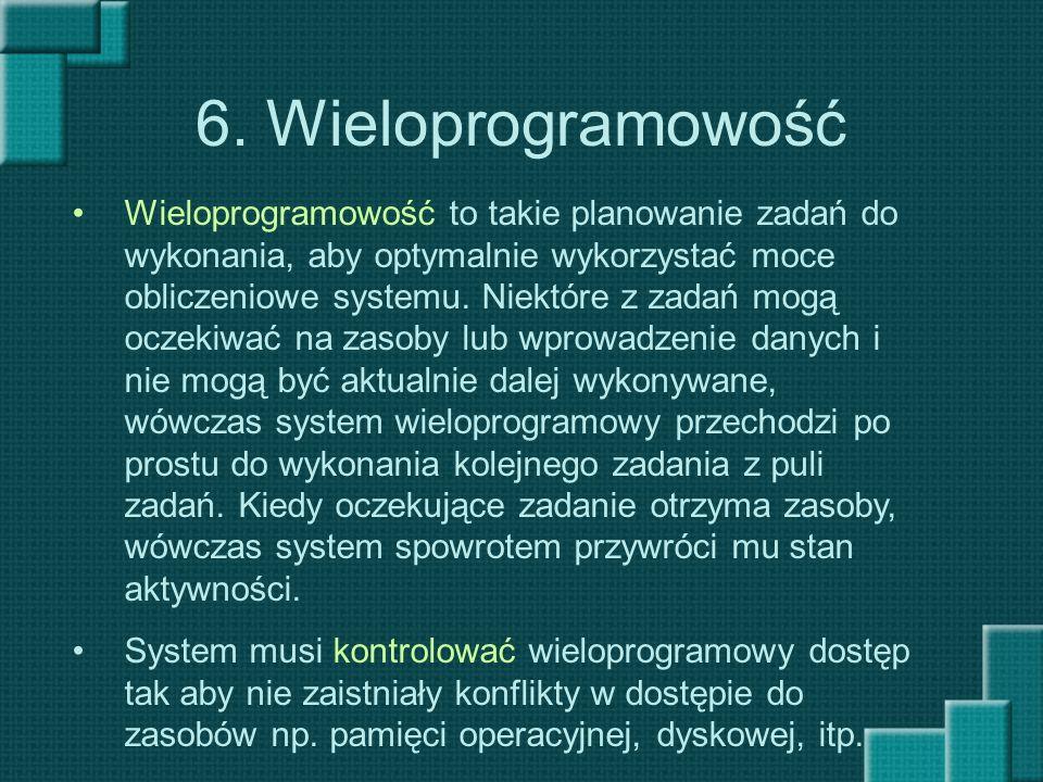6. Wieloprogramowość