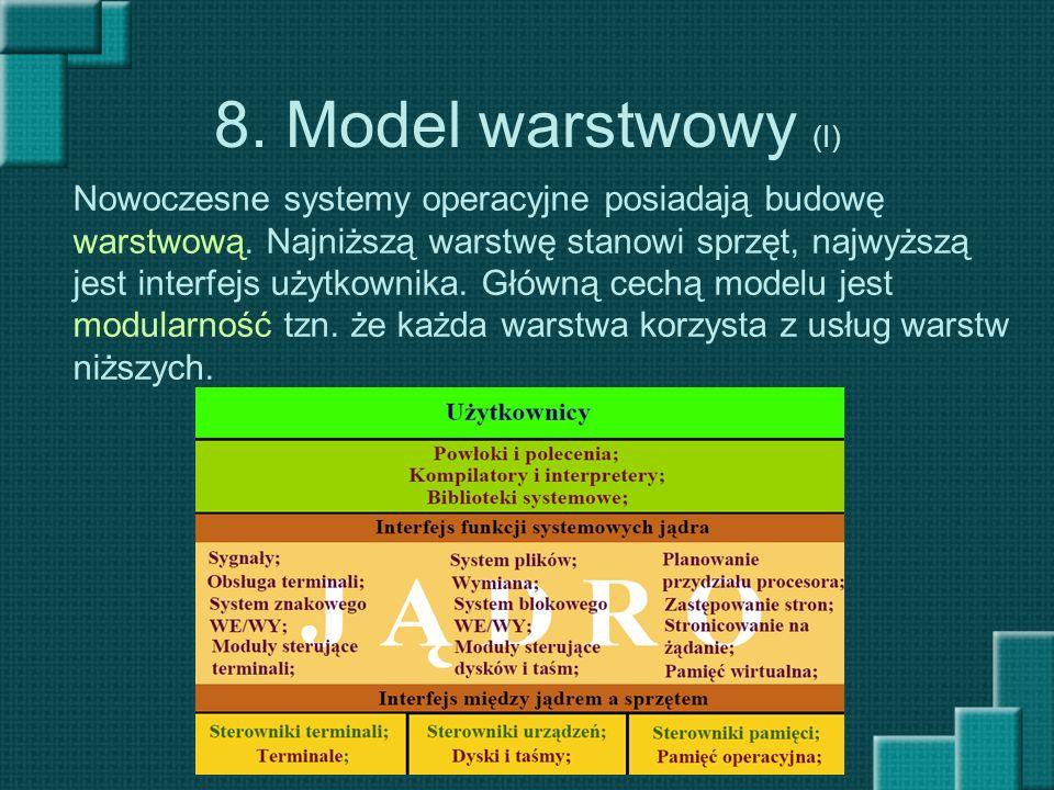 8. Model warstwowy (I)