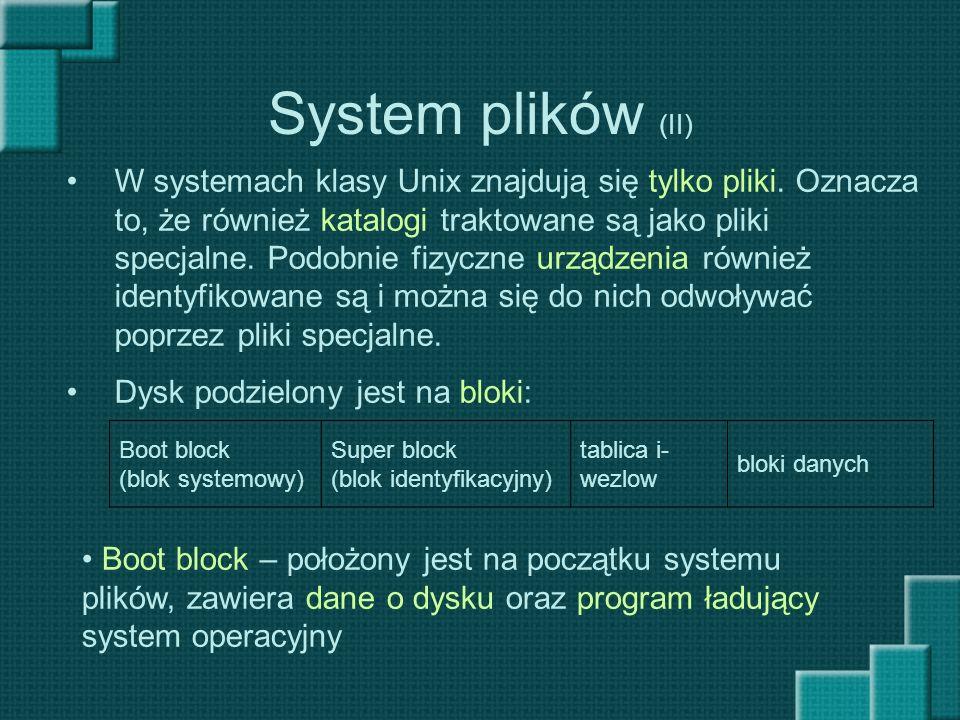 System plików (II)