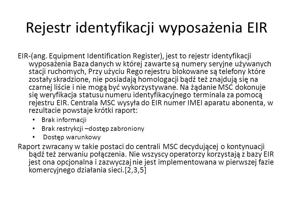 Rejestr identyfikacji wyposażenia EIR