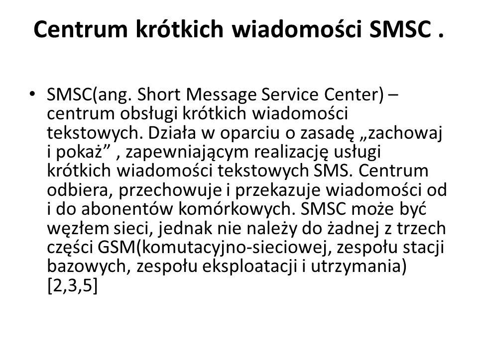 Centrum krótkich wiadomości SMSC .