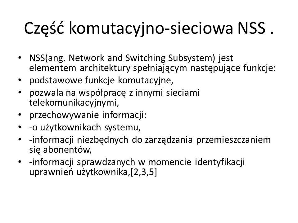 Część komutacyjno-sieciowa NSS .