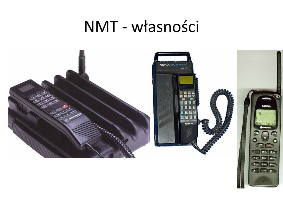 NMT - własności Zakres usług oferowanych przez system NMT jest w porównaniu do nowoczesnych systemów cyfrowych bardzo ubogi i obejmuje: